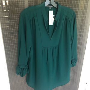 NWT Forest Green blouse from StitchFix size L